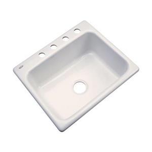 Dekor Princeton 25-in x 22-in Almond Kitchen Sink