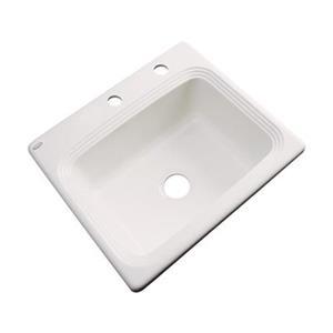 Dekor Chaumont 25-in x 22-in Almond Single Bowl Drop-in Kitchen Sink