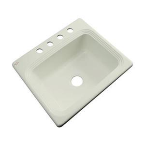 Dekor Chaumont 25-in x 22-in Jersey Cream Single Bowl Drop-in Kitchen Sink