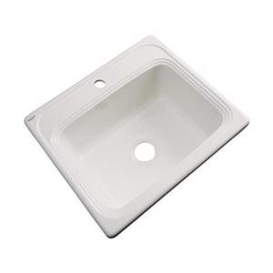 Dekor Waldorf 25-in x 22-in Almond Single Bowl Drop-In Kitchen Sink