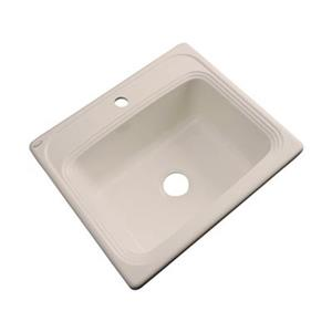 Dekor Waldorf 25-in x 22-in Candlelyght Single Bowl Drop-In Kitchen Sink