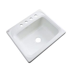 Dekor Waldorf 25-in x 22-in White Single Bowl Kitchen Sink