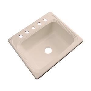 Dekor Waldorf 25-in x 22-in Peach Bisque Single Bowl Kitchen Sink