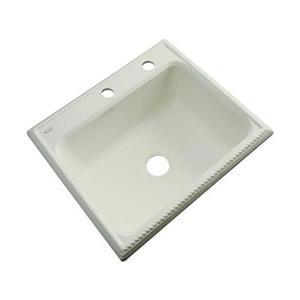 Dekor Litchfield 25-in x 22-in Jersey Cream Single Bowl Kitchen Sink
