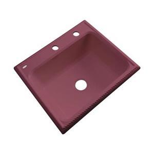 Dekor Litchfield 25-in x 22-in Raspberry Puree Single Bowl Kitchen Sink