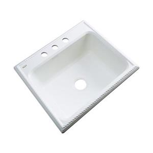 Dekor Litchfield 25-in x 22-in White Single Bowl Kitchen Sink