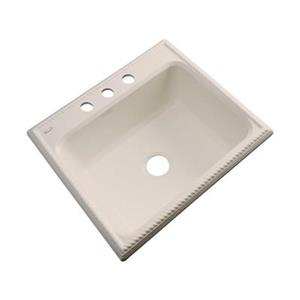 Dekor Litchfield 25-in x 22-in Candlelyght Single Bowl Kitchen Sink