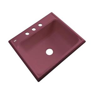 Dekor Litchfield 25-in x 22-in Raspberry Puree Single Bowl Kitchen Sink