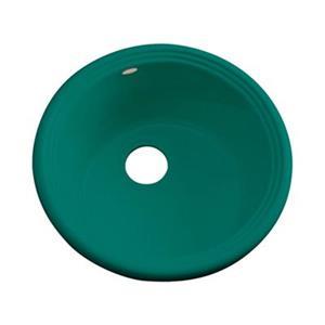 Dekor 240 Master Collection Arvada 18.25-in x 18.25-in Verde Prep Sink