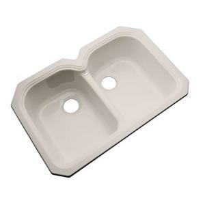 Dekor Waterford 33-in x 22-in Shell Undermount Double Bowl Kitchen Sink