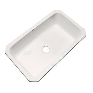 Dekor Brookwood 33-in x 22-in Bone Undermount Kitchen Sink