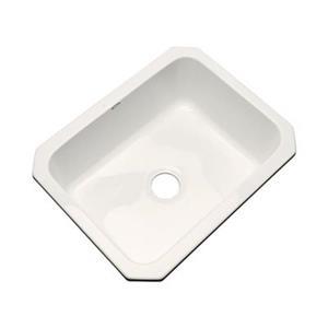 Dekor Princeton 25-in x 22-in Biscuit Undermount Kitchen Sink