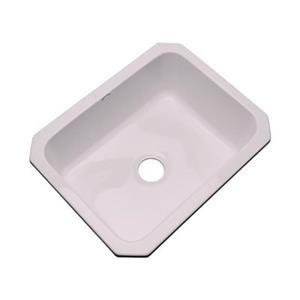 Dekor Princeton 25-in x 22-in Innocent Blush Undermount Kitchen Sink
