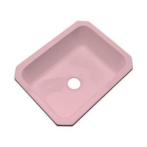 Dekor Princeton 25-in x 22-in Dusty Rose Undermount Kitchen Sink