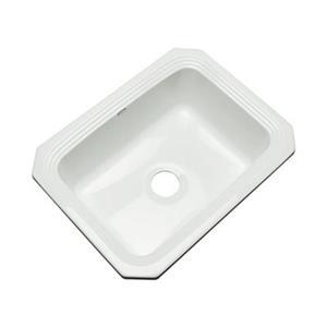 Dekor Chaumount 25-in x 19-in White Undermount Kitchen Sink