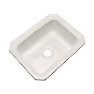 Dekor Chaumount 25-in x 19-in Bone Undermount Kitchen Sink