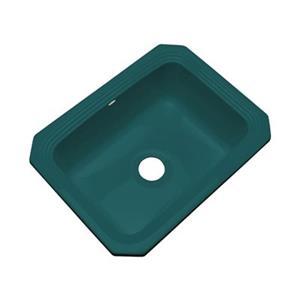 Dekor Chaumount 25-in x 19-in Teal Undermount Kitchen Sink
