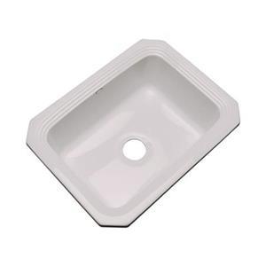 Dekor Chaumount 25-in x 19-in Innocent Blush Undermount Kitchen Sink