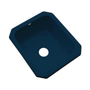 Dekor Master Collection Danforth 22-in x 17-in Navy Blue Undermount Prep Sink