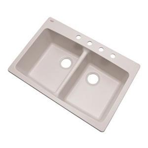 Dekor Westwood 33-in x 22-in Soft White Kitchen Sink