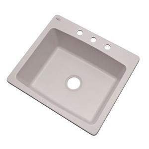 Dekor Waterbury 25-in x 22-in Soft White Kitchen Sink