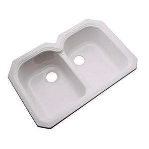 Dekor Waterford 33-in x 22-in Innocent Blush Undermount Double Kitchen Sink
