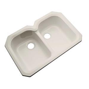 Dekor Waterford 33-in x 22-in Desert Bloom Undermount Double Kitchen Sink