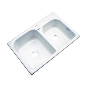 Dekor 22-in x 31-in White Thornbury Double Bowl Kitchen Sink