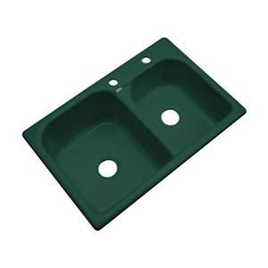 Dekor 22-in x 31-in Timberline Thornbury Double Bowl Kitchen Sink