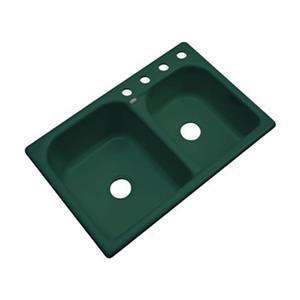 Dekor Thornbury 22-in x 33-in Timberline Double Bowl Kitchen Sink