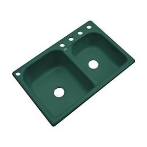 Dekor Thornbury 22-in x 33-in Rain Forest Double Bowl Kitchen Sink