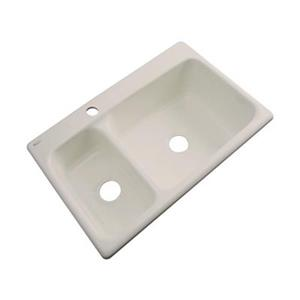 Dekor Windsor 22-in x 33-in Desert Bloom Double Bowl Kitchen Sink