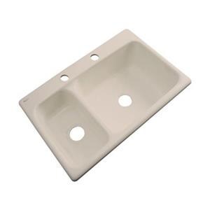Dekor Windsor 22-in x 33-in Candlelyght Double Bowl Kitchen Sink