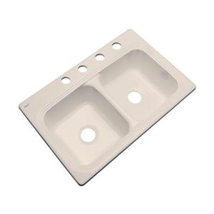 Dekor Ashfield 22-in x 33-in Candlelyght Double Bowl Kitchen Sink