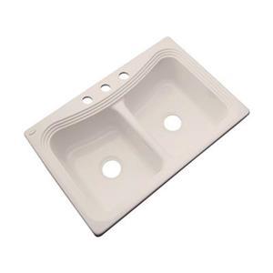 Dekor Alliston 22-in x 33-in Desert Bloom Double Bowl Kitchen Sink