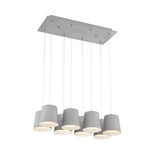 Eurofase Borto Gray  8-Light LED Rectangle Multi Light Pendant