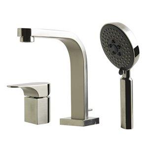 ALFI Brand Brushed Nickel  Bathtub Filler with Shower Head