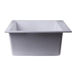 ALFI Brand 20-in White Single Bowl Kitchen Sink