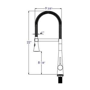 ALFI Brand Brushed Gooseneck Single Hole Faucet with Spray Head