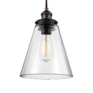 Feiss Baskin Brass/Zinc Cone Pendant Light