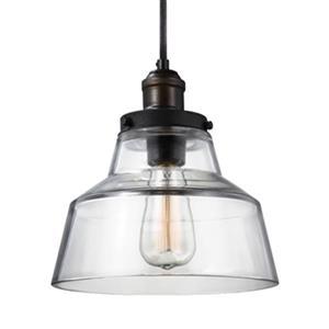 Feiss Baskin Brass/Zinc Chimney Pendant Light