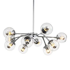 Design Living Series 10-Light Chrome Ceiling Pendant