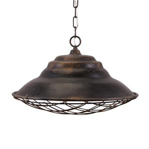 IMAX Worldwide Stuart Rustic Black Pendant Light