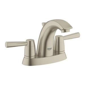 Grohe 4-in Brushed Nickel Arden Lavatory Centerset Faucet