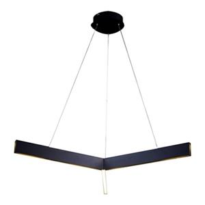 Design Living 26.8-in x 2.4-in Black Y-Shaped LED Pendant Light