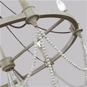 Feiss Beverly 6-Light White Oak Chandelier