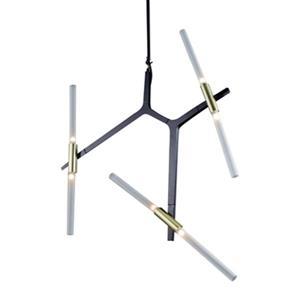 Design Living 37-in x 29-in Black 6-Light Glass Rod Pendant Light