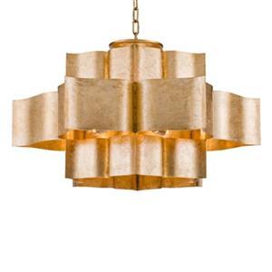 Design Living 29.9-in x 15.7-in Gold Three Tier Pendant Light