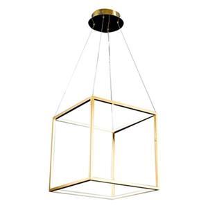 Design Living 17-in x 17-in Gold Floating Cube LED Pendant Light