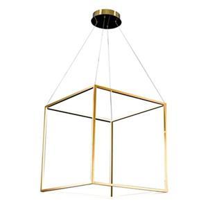 Design Living 25.5-in x 25.5-in Gold Floating Cube LED Pendant Light